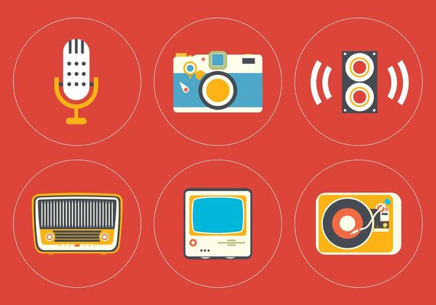 Vintage Icon Vector Set - бесплатный vector #141233