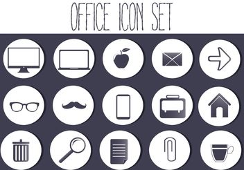 Free Vector Office Icon Set - бесплатный vector #141243