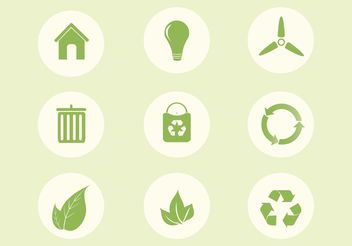 Free Vector Ecology Icon Set - vector gratuit #141253
