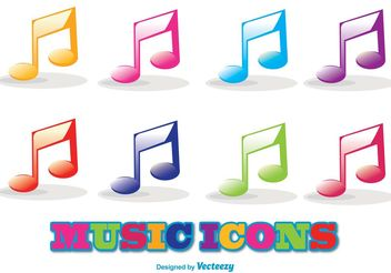 Vector Music Icon Set - Free vector #141263
