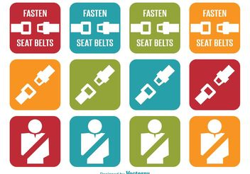 Seat Belt Icons - Free vector #141303