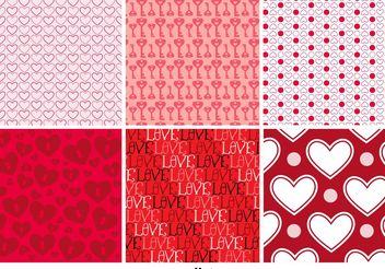 Love Background Patterns - Kostenloses vector #141323