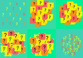 Question Mark Background Vectors - Free vector #141343