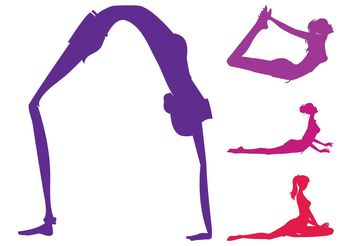 Yoga Poses Set - Free vector #141383