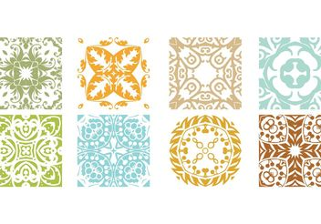 Floral Patterns - vector gratuit #141413