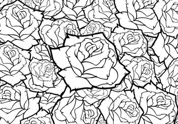 Rose Flower Vector Background Black And White - Kostenloses vector #141453