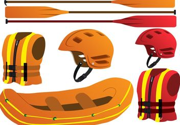 River Rafting Vector Set - Free vector #141473