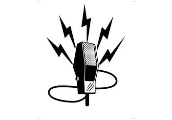 Old Time Microphone - vector gratuit #141543