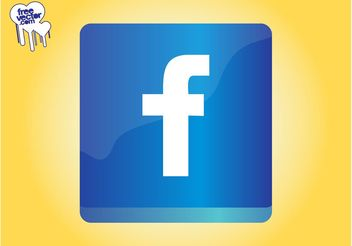 Facebook Icon Graphics - vector gratuit #141633