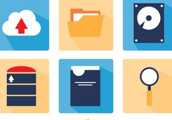 Big Data Square Icons Vector Pack - vector gratuit #141713