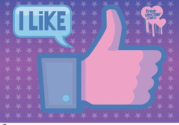 Facebook Like Vector - vector gratuit #141753