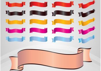 Shiny Ribbons - Free vector #141783