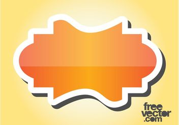 Orange Sticker Design - Free vector #141823