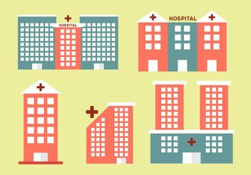 Hospital buildings - vector gratuit #141833
