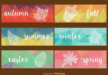 Seasonal Geometric Labels - vector gratuit #141913
