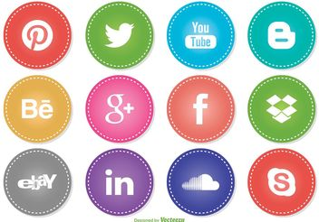 Social Media Icon Set - vector #141923 gratis