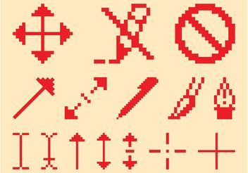 Pixelated Icon Set - Free vector #141953