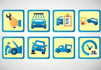 Car Repair Vector Icon Set - Kostenloses vector #141963