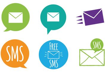 Free SMS Icon Vector Set - Kostenloses vector #141973
