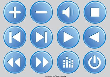 Media Player Button Set - vector gratuit #141983