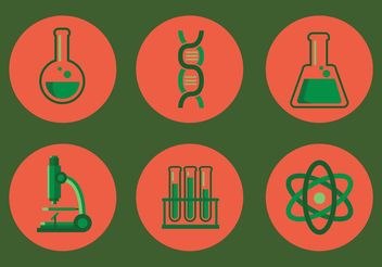 Laboratory Vector Icon Set - Free vector #142013