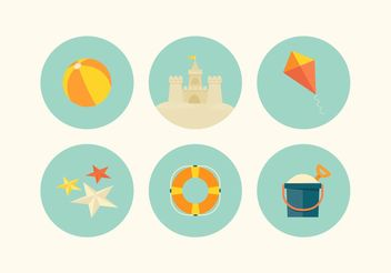 Free Beach Vector Icon Set - бесплатный vector #142023
