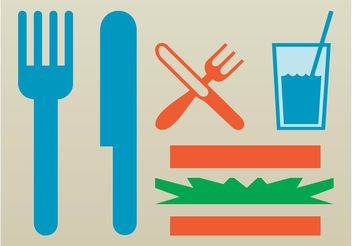 Eating Icons - Free vector #142053