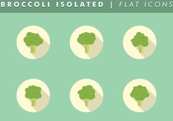 Broccoli Isolated Icons Vector Free - vector gratuit #142063