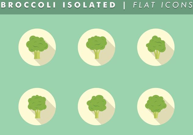 Broccoli Isolated Icons Vector Free - Kostenloses vector #142063