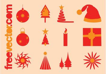 Christmas Vector Icons Pack - vector gratuit #142093