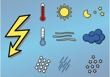 Weather Icons - vector gratuit #142133