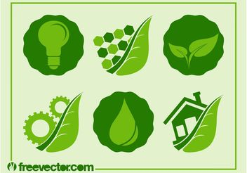 Ecology Icons Vector - бесплатный vector #142143
