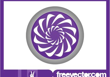 Round Floral Logo - Free vector #142153