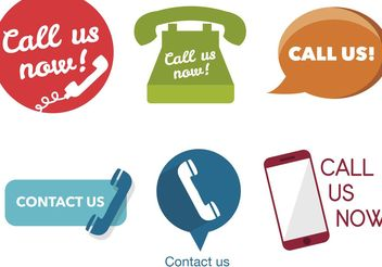 Various Call Us Now Icons - vector gratuit #142263
