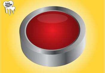 Red 3D Button - Kostenloses vector #142303