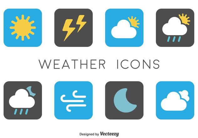 Minimal Weather Icons - Free vector #142323