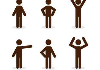 Stick Figure Icons Pack - Free vector #142423