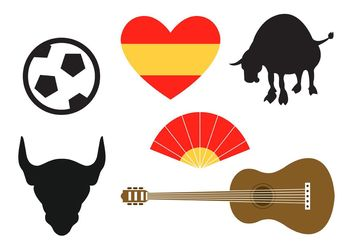 Spanish Vector Icons - vector #142433 gratis