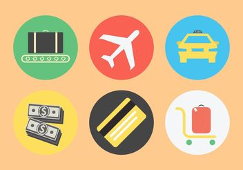 Airport Related Icon Set - Free vector #142463