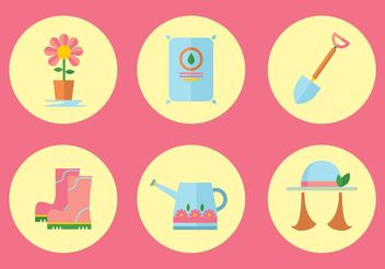 Gardening Vector Icon Set - Free vector #142473