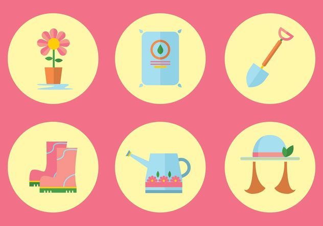 jardinagem icon set vector - Free vector #142473