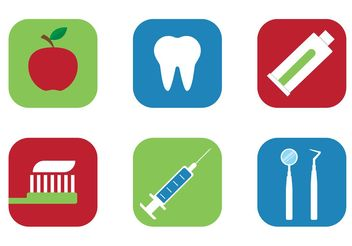 Free Vector Tooth Icons - vector #142523 gratis