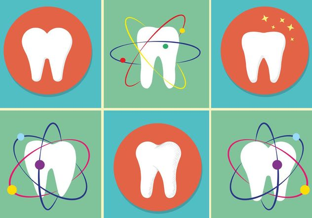 Vector Teeth Icons - vector gratuit #142573
