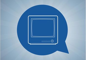 Television Icon - Free vector #142603