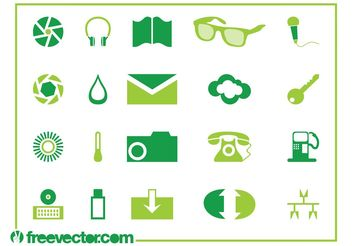 Icons Pack Vector graphics - vector gratuit #142673