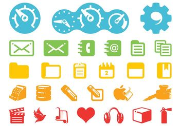 Technology Icons Pack - vector gratuit #142693