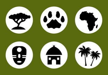 African Vector Icon Set - vector gratuit #142773