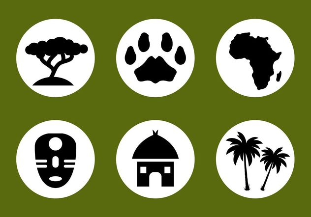 African Vector Icon Set - Free vector #142773