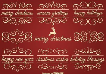 Vector Holiday Ornament Text Frames - vector gratuit #142913