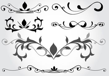 Floral Design Vector Elements - Free vector #142923